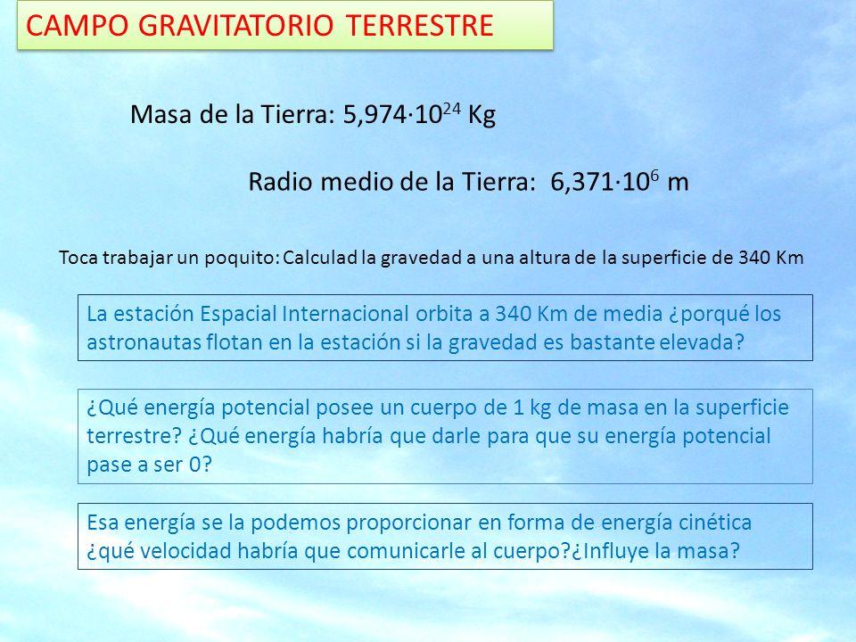 CAMPO GRAVITATORIO TERRESTRE