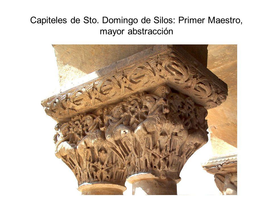 Capiteles de Sto. Domingo de Silos: Primer Maestro, mayor abstracción