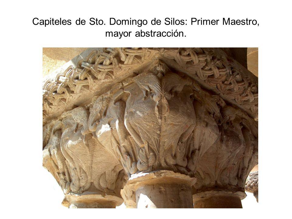 Capiteles de Sto. Domingo de Silos: Primer Maestro, mayor abstracción.