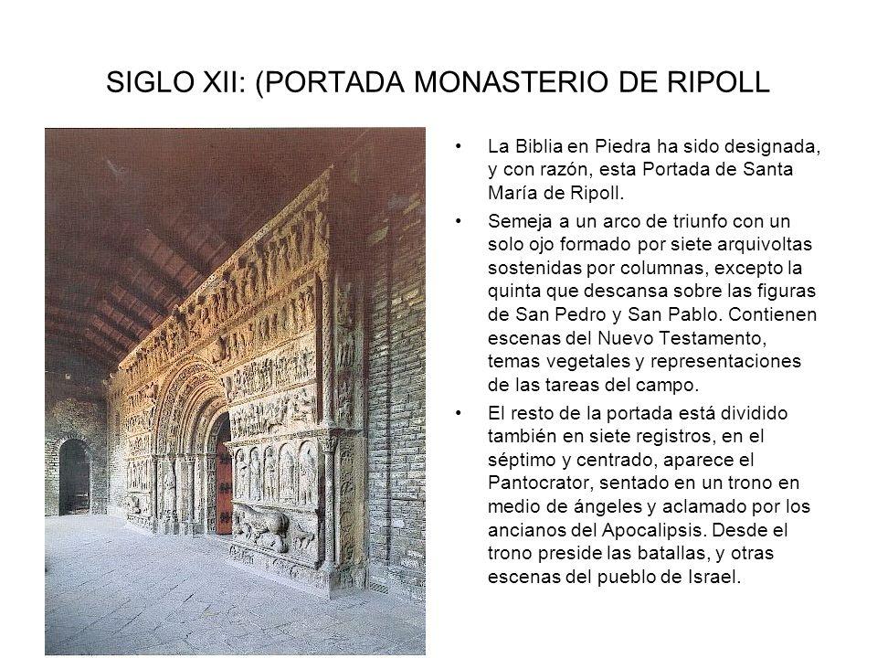 SIGLO XII: (PORTADA MONASTERIO DE RIPOLL