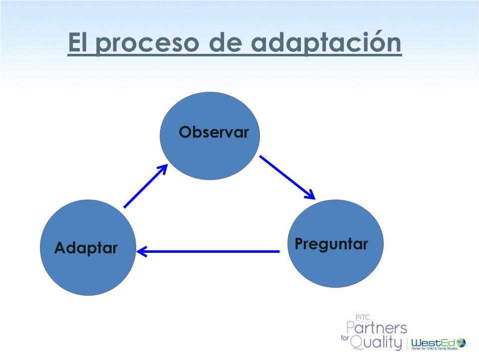 El proceso de adaptación