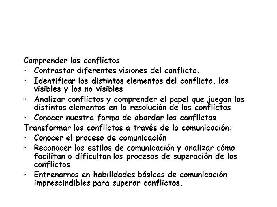 Comprender los conflictos