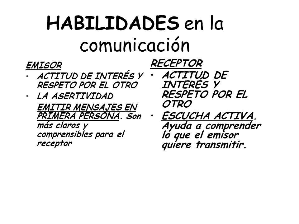 HABILIDADES en la comunicación