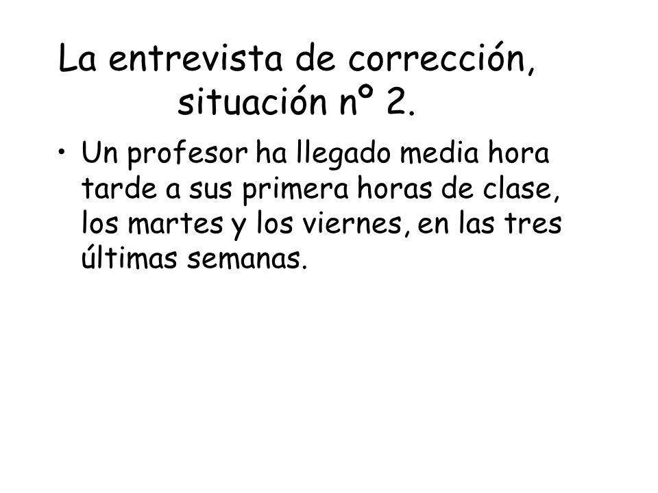 La entrevista de corrección, situación nº 2.