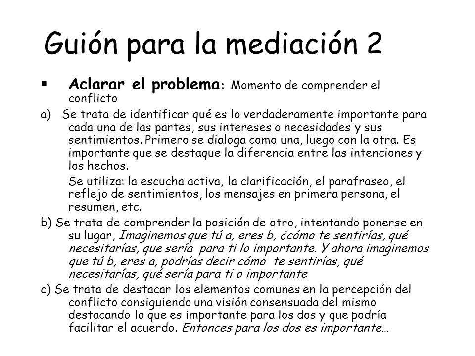 Guión para la mediación 2