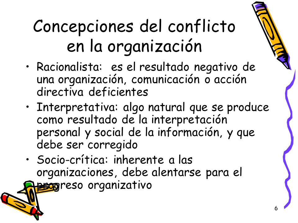 Concepciones del conflicto en la organización