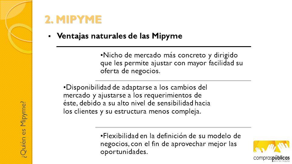 2. MIPYME Ventajas naturales de las Mipyme