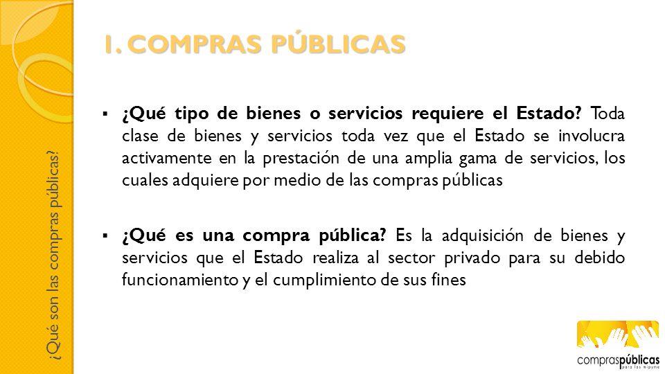 1. COMPRAS PÚBLICAS