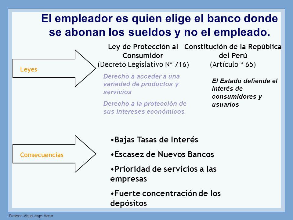 El empleador es quien elige el banco donde se abonan los sueldos y no el empleado.