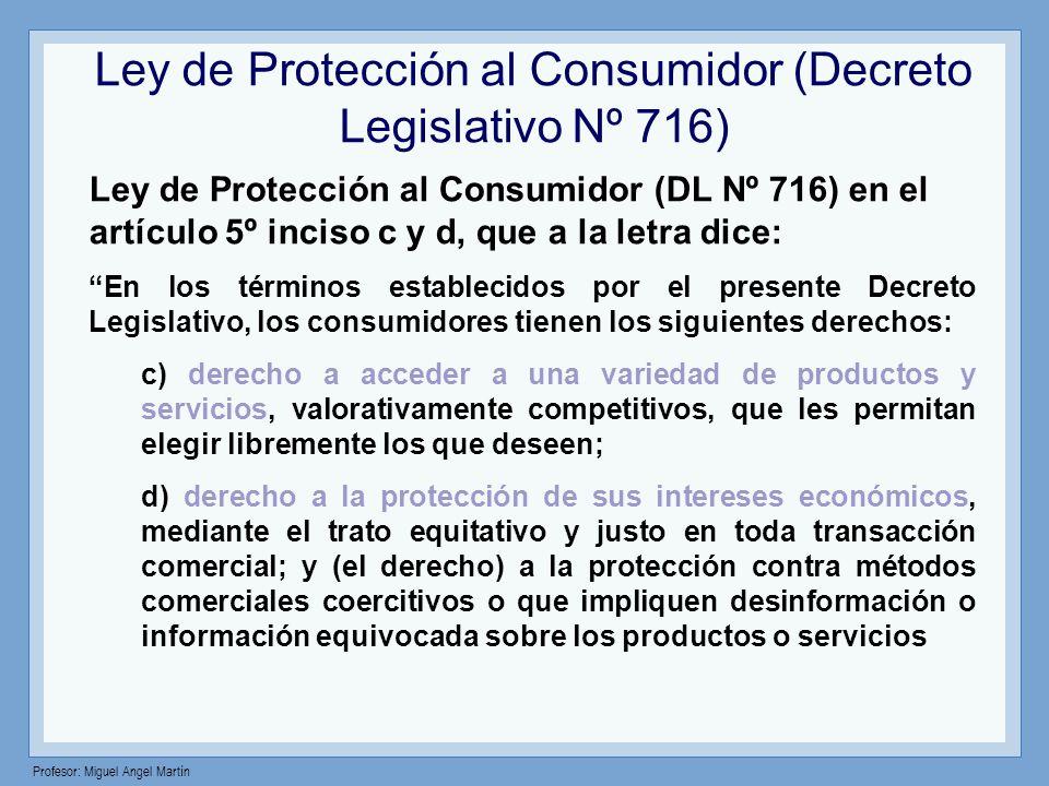 Ley de Protección al Consumidor (Decreto Legislativo Nº 716)