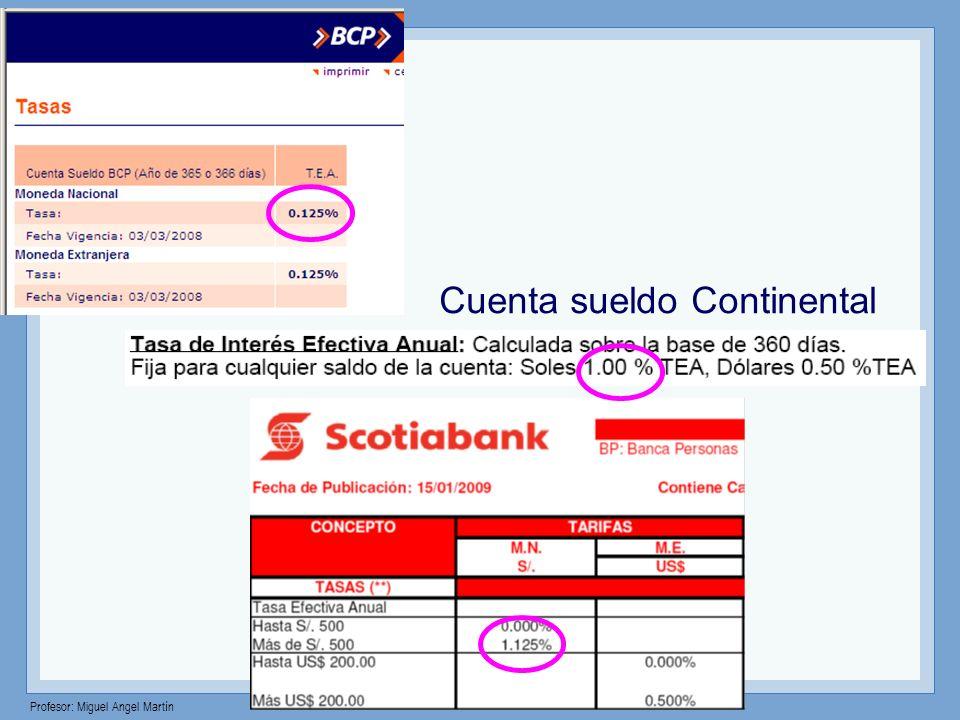 Cuenta sueldo Continental