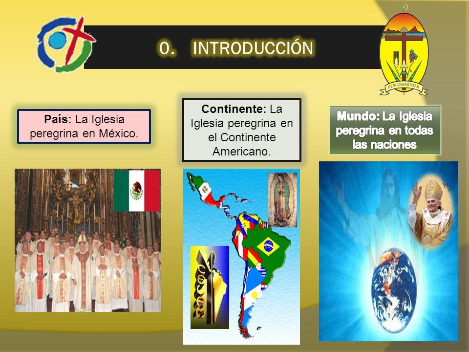 0. INTRODUCCIÓN Continente: La Iglesia peregrina en el Continente Americano. Mundo: La Iglesia peregrina en todas las naciones.
