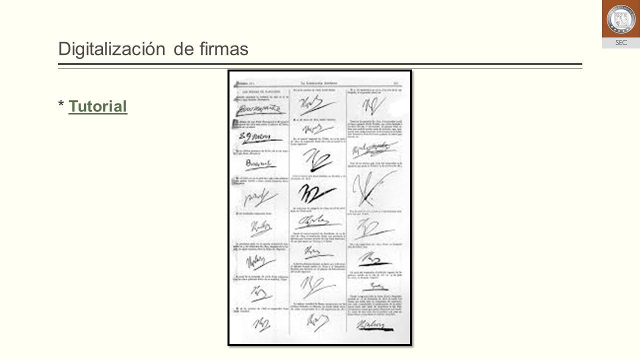 Digitalización de firmas