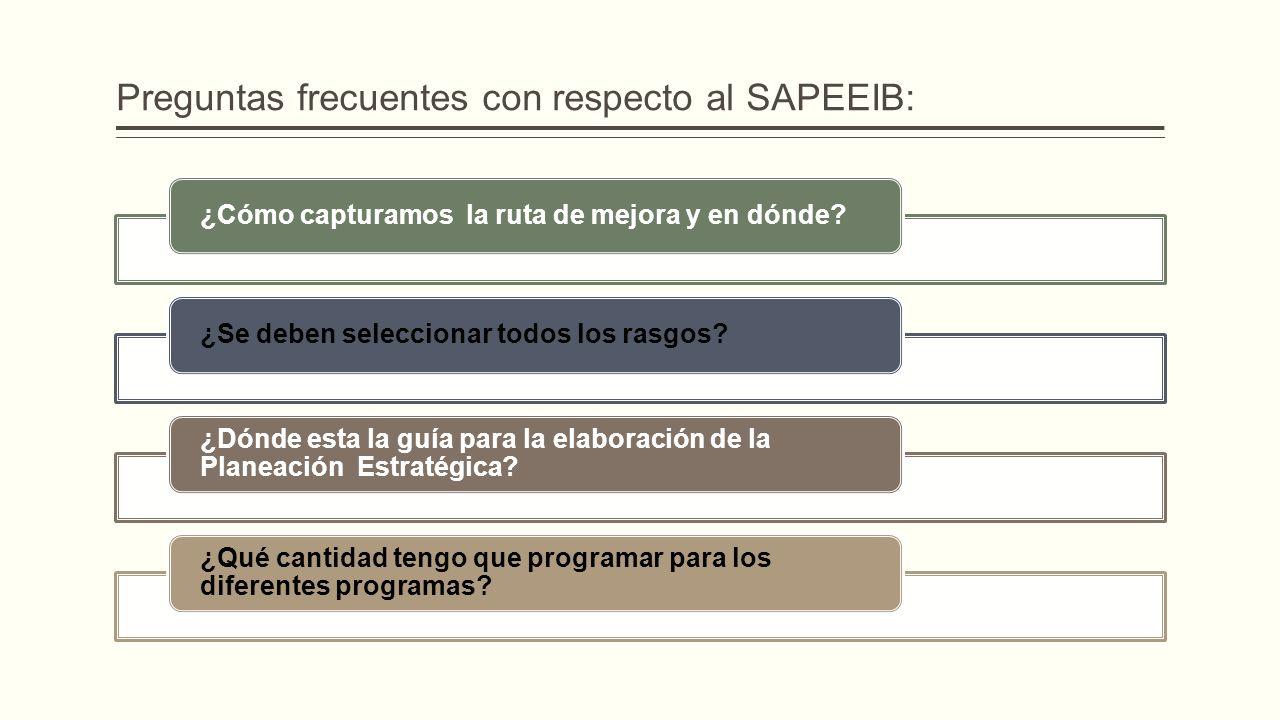 Preguntas frecuentes con respecto al SAPEEIB: