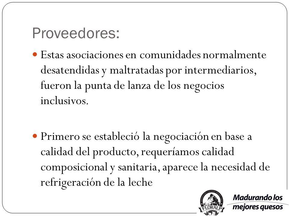 Proveedores: