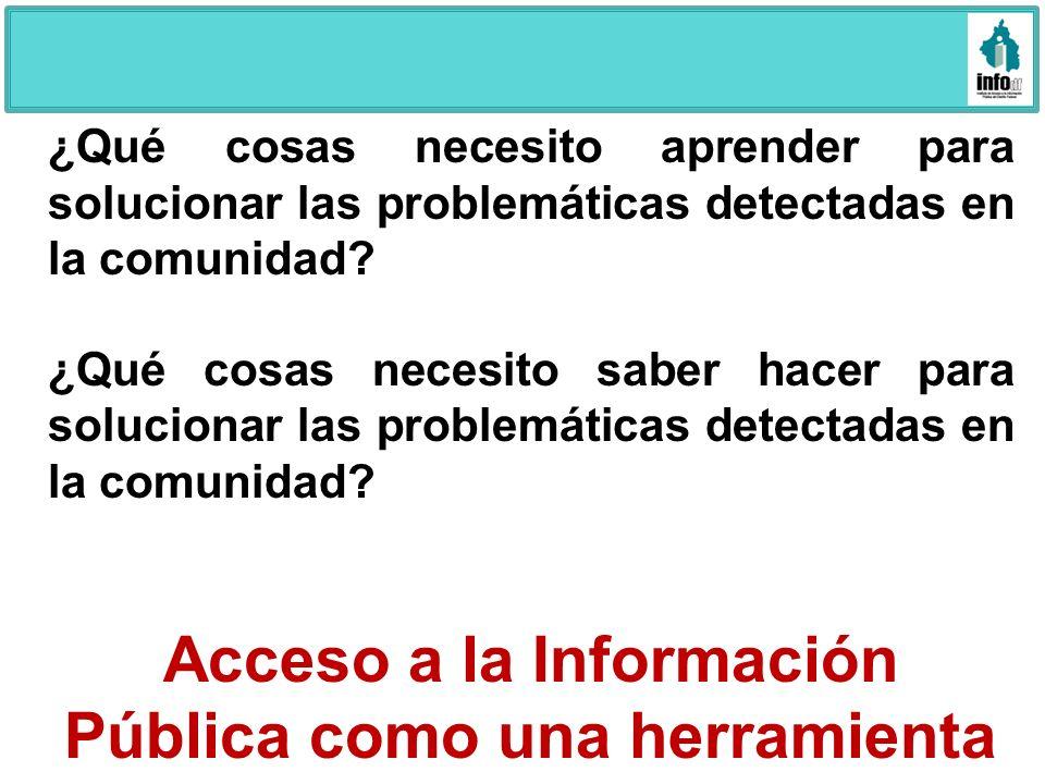 Acceso a la Información Pública como una herramienta útil