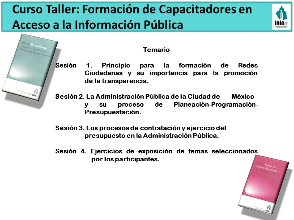 Curso Taller: Formación de Capacitadores en Acceso a la Información Pública
