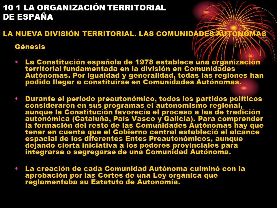 10 1 LA ORGANIZACIÓN TERRITORIAL DE ESPAÑA