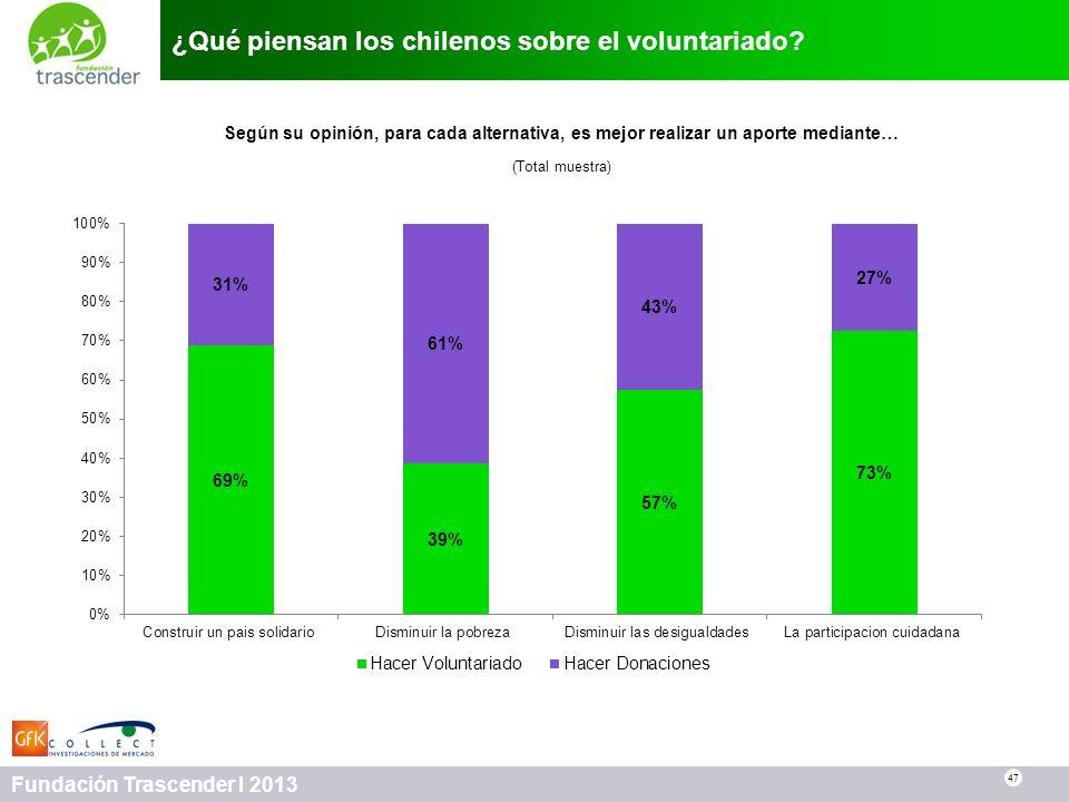 ¿Qué piensan los chilenos sobre el voluntariado