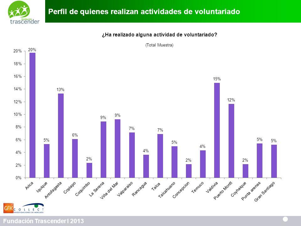 Perfil de quienes realizan actividades de voluntariado