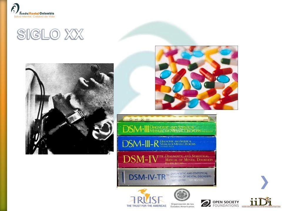 SIGLO XX SIGLO XX.- Se desarrollaron clasificaciones internacionales, diferentes psicoterapias y la aparición de la psicofarmacología.