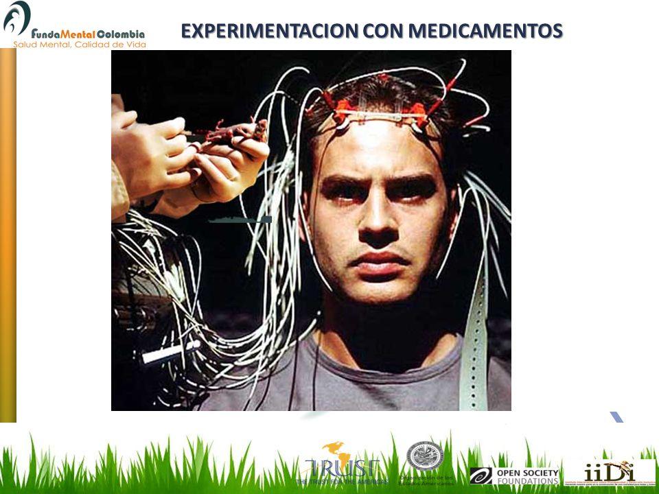 EXPERIMENTACION CON MEDICAMENTOS