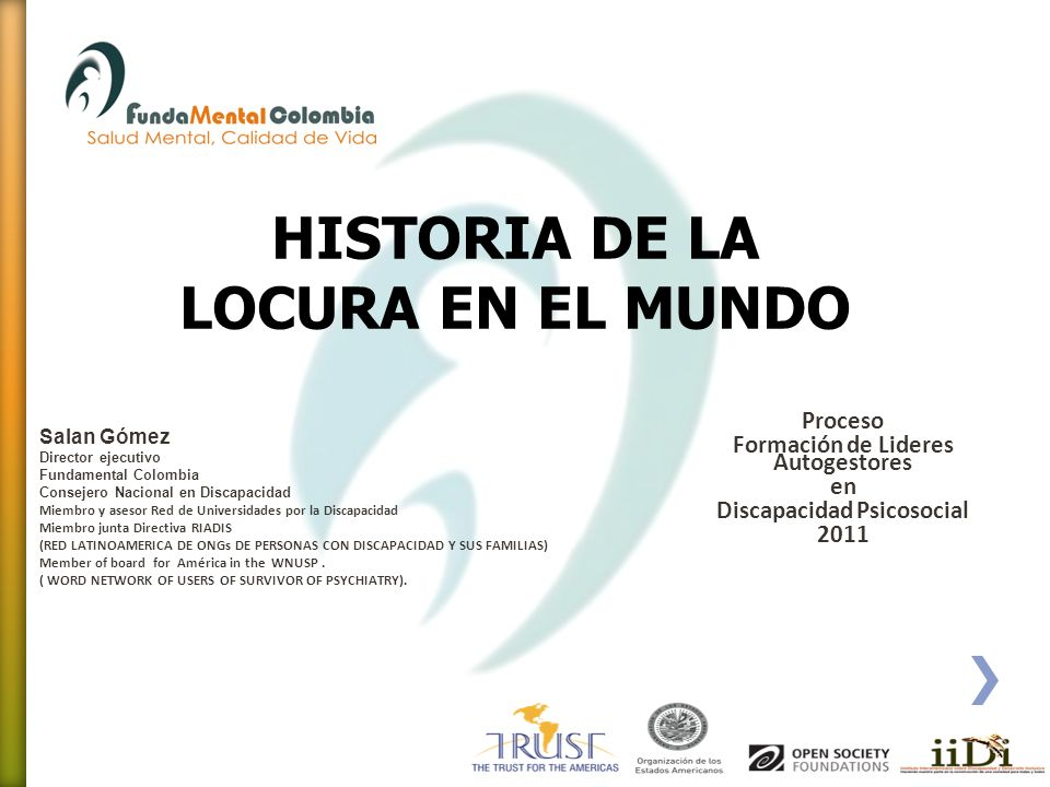 HISTORIA DE LA LOCURA EN EL MUNDO