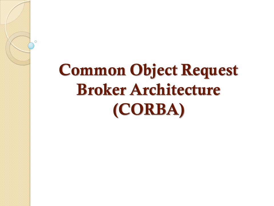 Que es object request broker