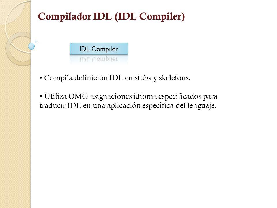 Compilador IDL (IDL Compiler)