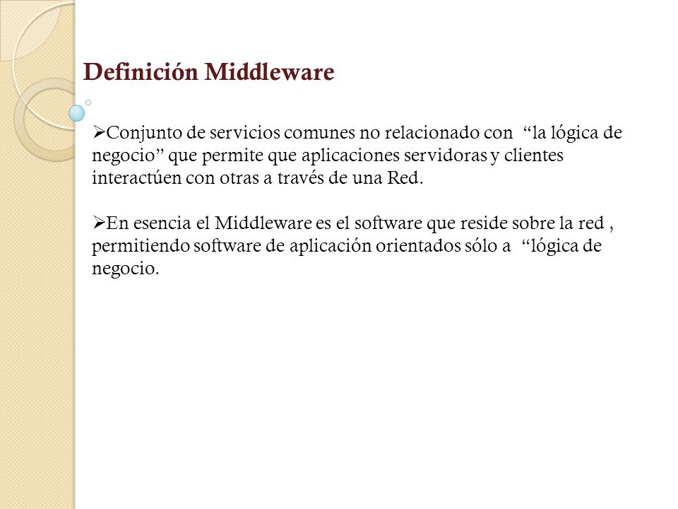 Definición Middleware