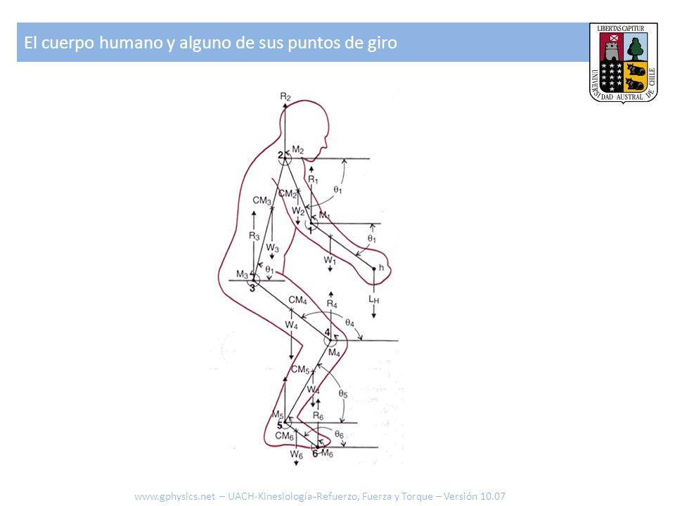El cuerpo humano y alguno de sus puntos de giro