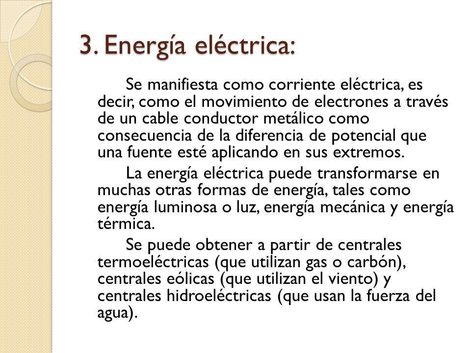 3. Energía eléctrica: