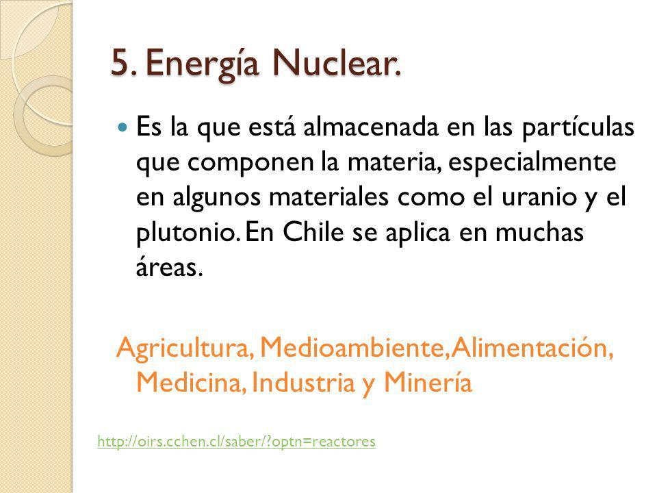 5. Energía Nuclear.