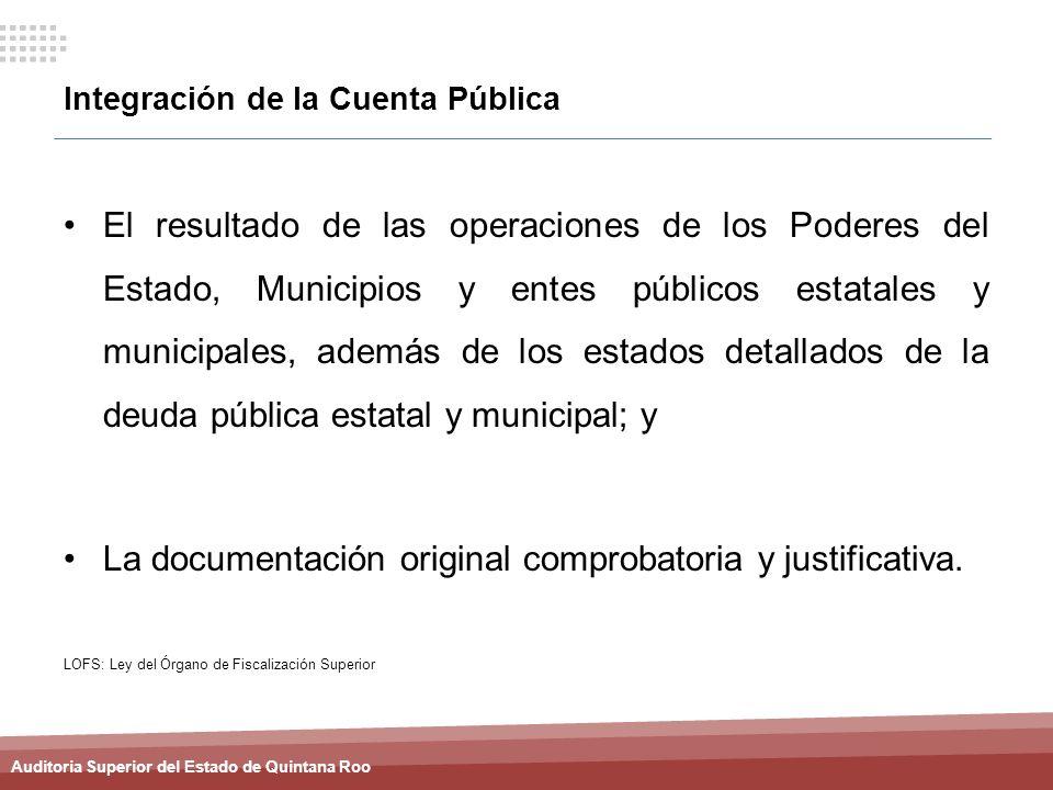 Integración de la Cuenta Pública