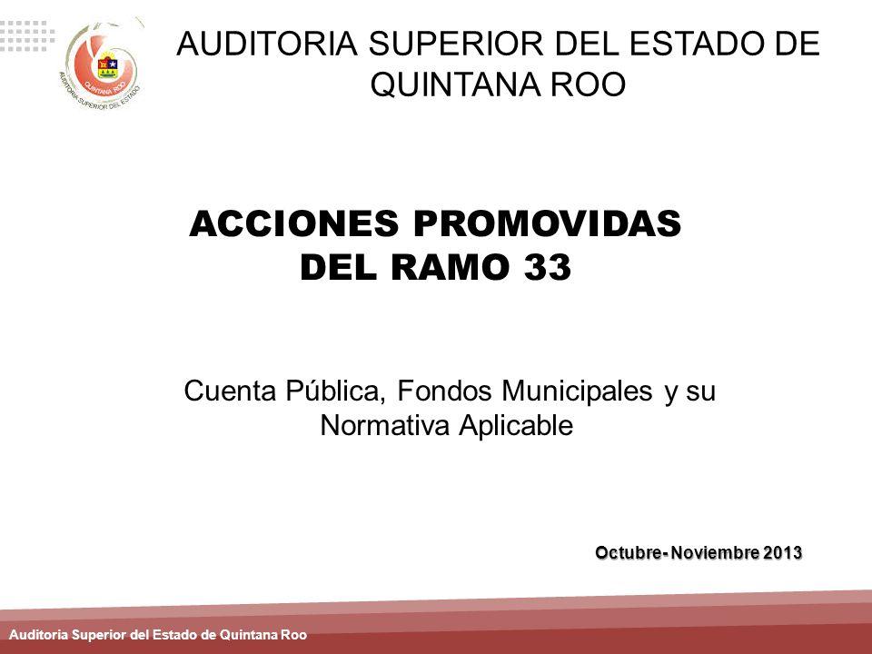 ACCIONES PROMOVIDAS DEL RAMO 33