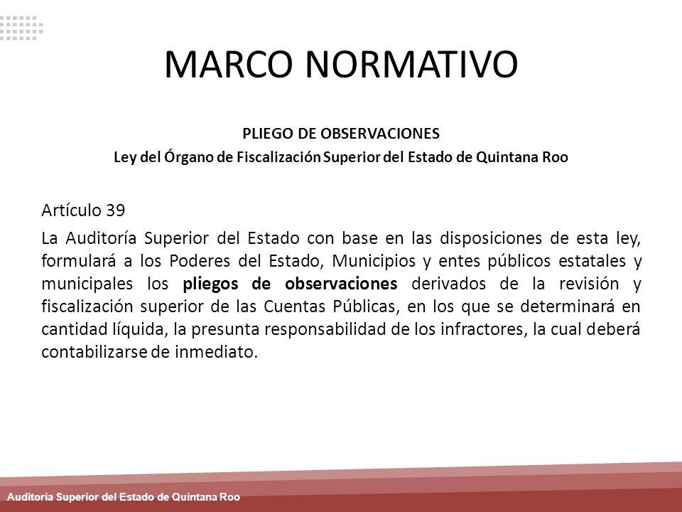 MARCO NORMATIVO Artículo 39