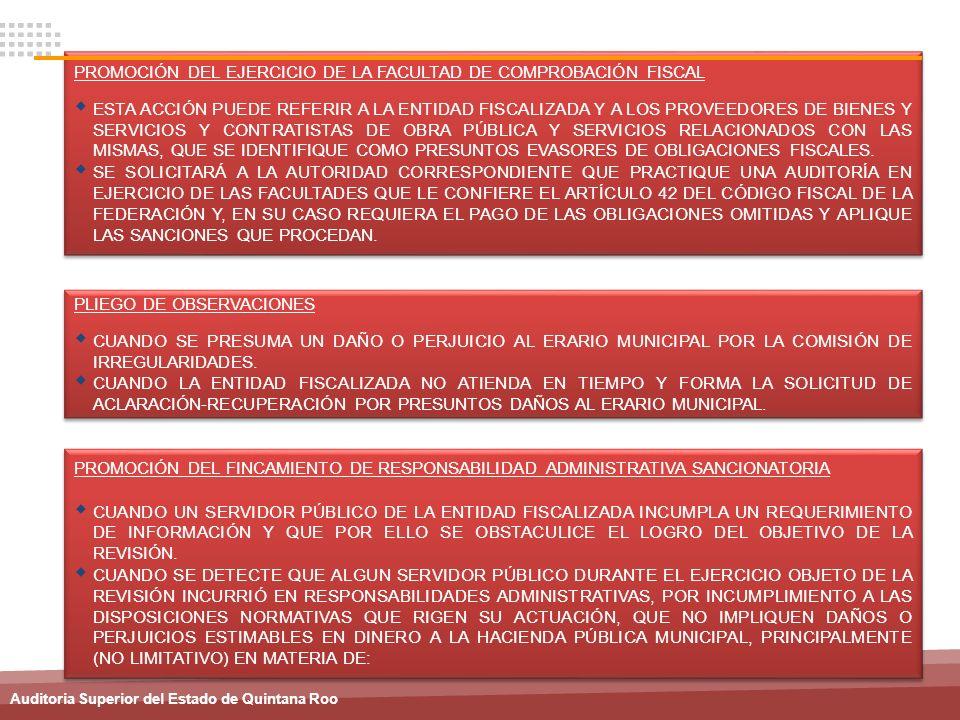 PROMOCIÓN DEL EJERCICIO DE LA FACULTAD DE COMPROBACIÓN FISCAL