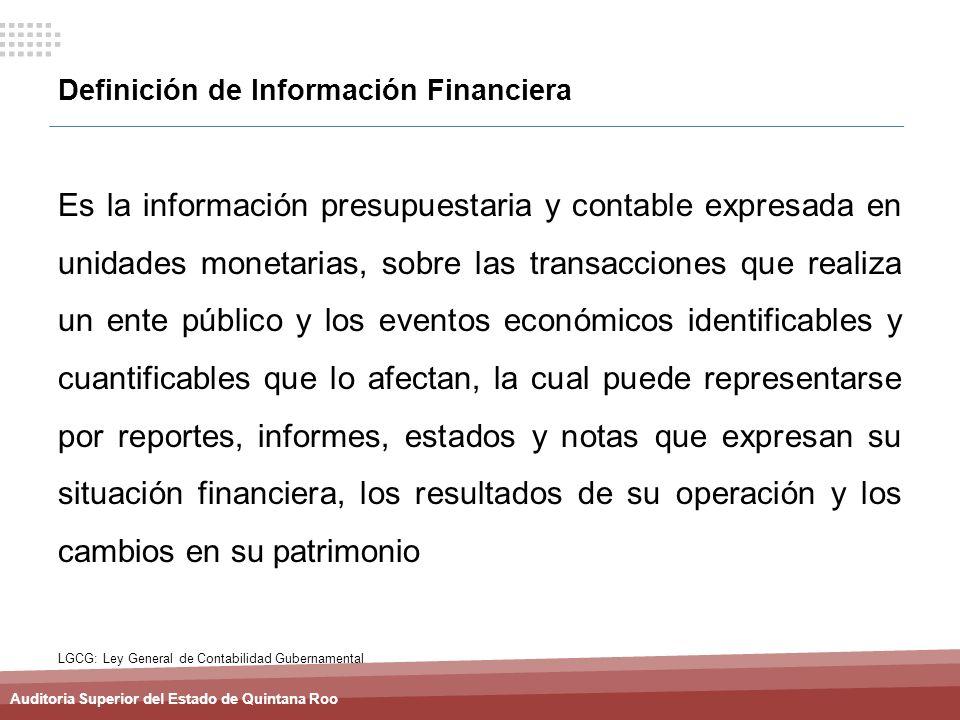 Definición de Información Financiera