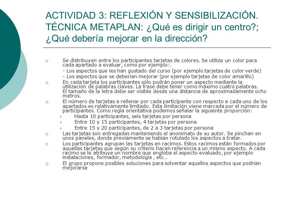ACTIVIDAD 3: REFLEXIÓN Y SENSIBILIZACIÓN