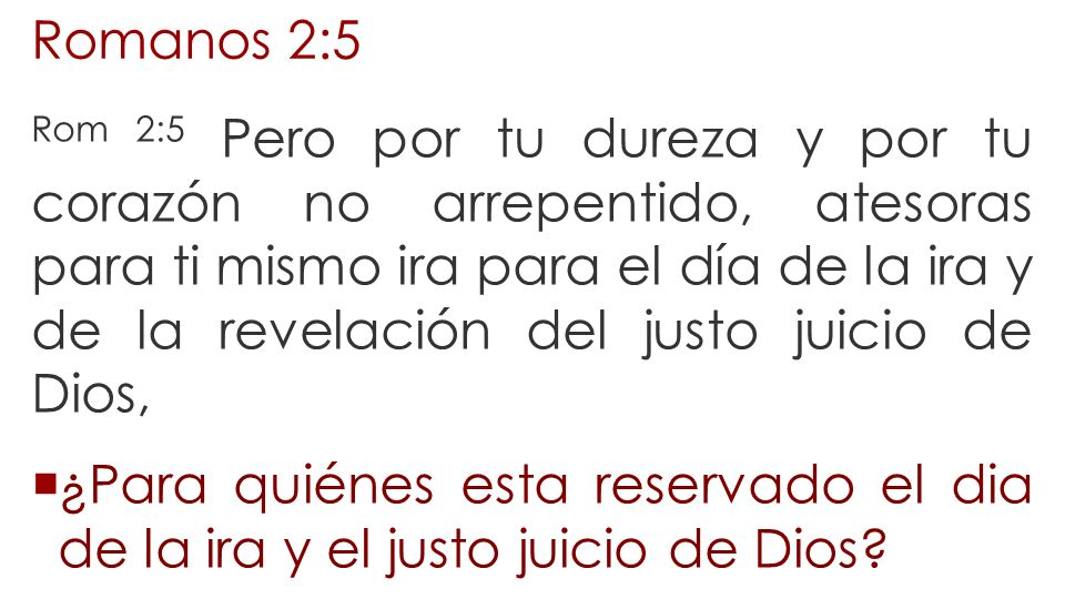 Romanos 2:5