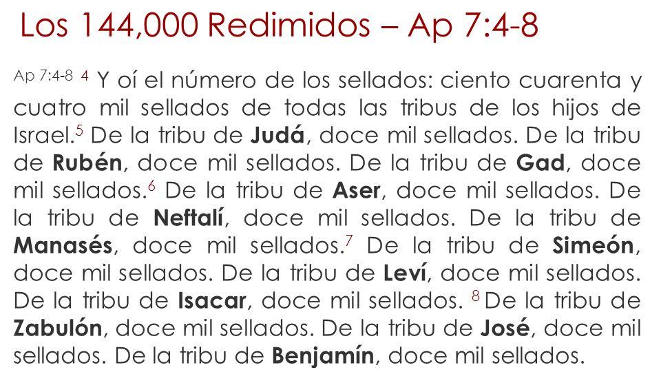 Los 144,000 Redimidos – Ap 7:4-8