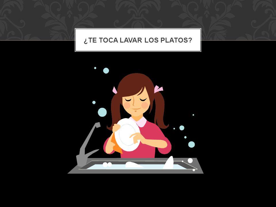 ¿Te toca lavar los platos