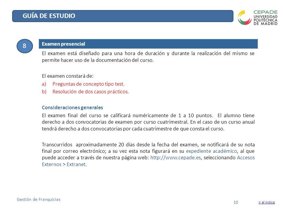 GUÍA DE ESTUDIO 8 Examen presencial