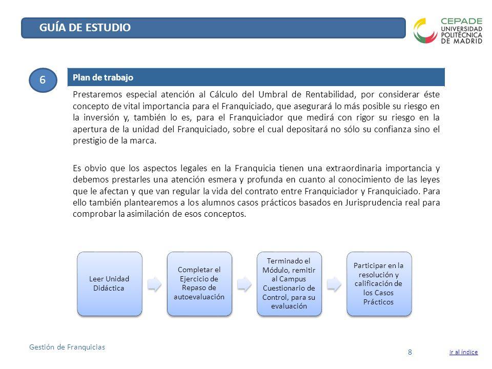 GUÍA DE ESTUDIO 6 Plan de trabajo