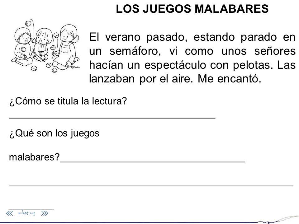 LOS JUEGOS MALABARES