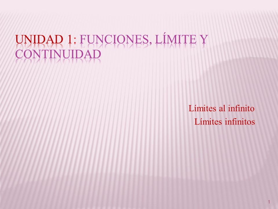 Unidad 1: Funciones, Límite y Continuidad