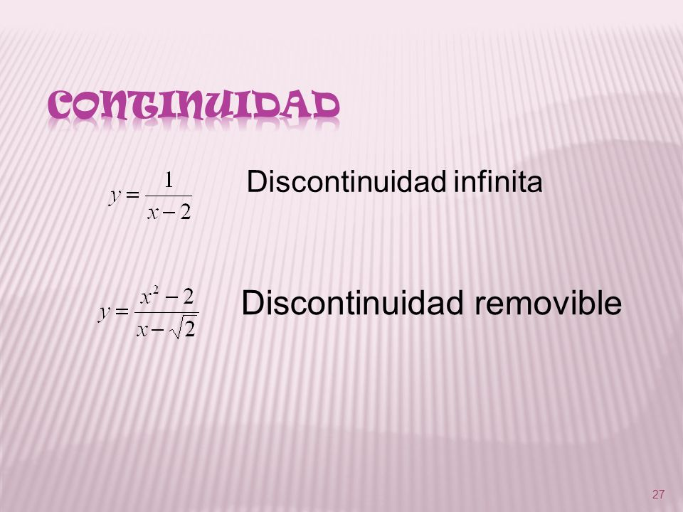 Discontinuidad removible