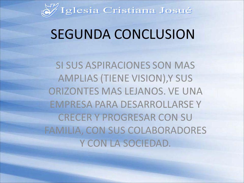 SEGUNDA CONCLUSION