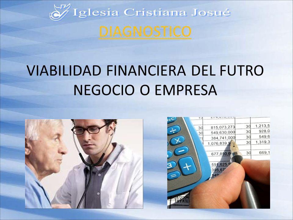 DIAGNOSTICO VIABILIDAD FINANCIERA DEL FUTRO NEGOCIO O EMPRESA