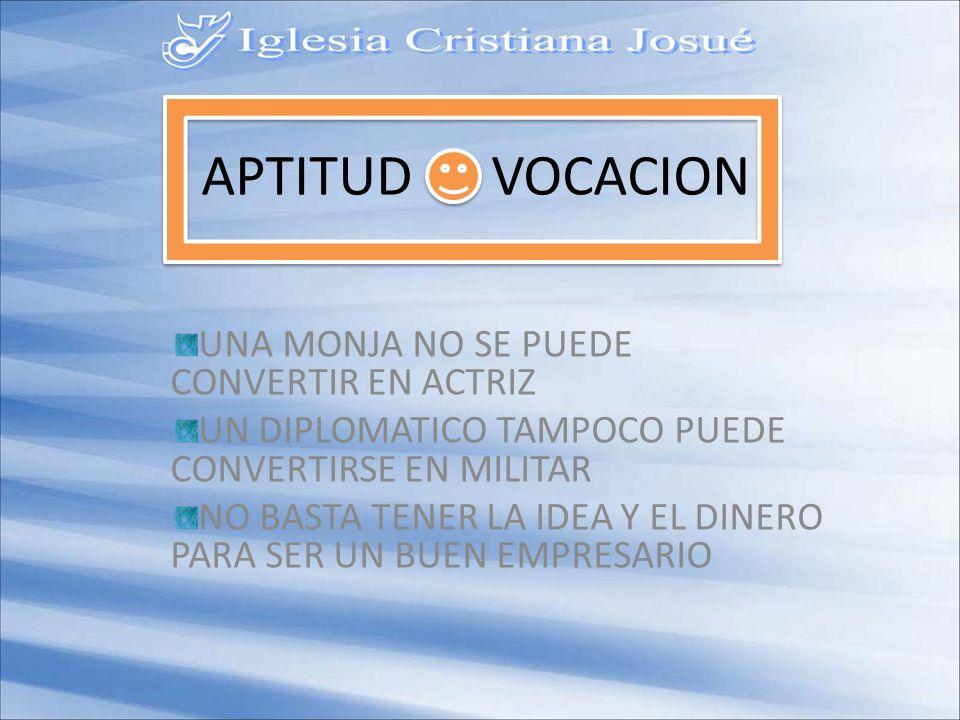 APTITUD VOCACION UNA MONJA NO SE PUEDE CONVERTIR EN ACTRIZ